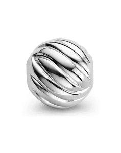 Parelslot rond silver